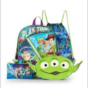 NWT TOY STORY 4 Backpack Lunch Kit Cinch Sak Case
